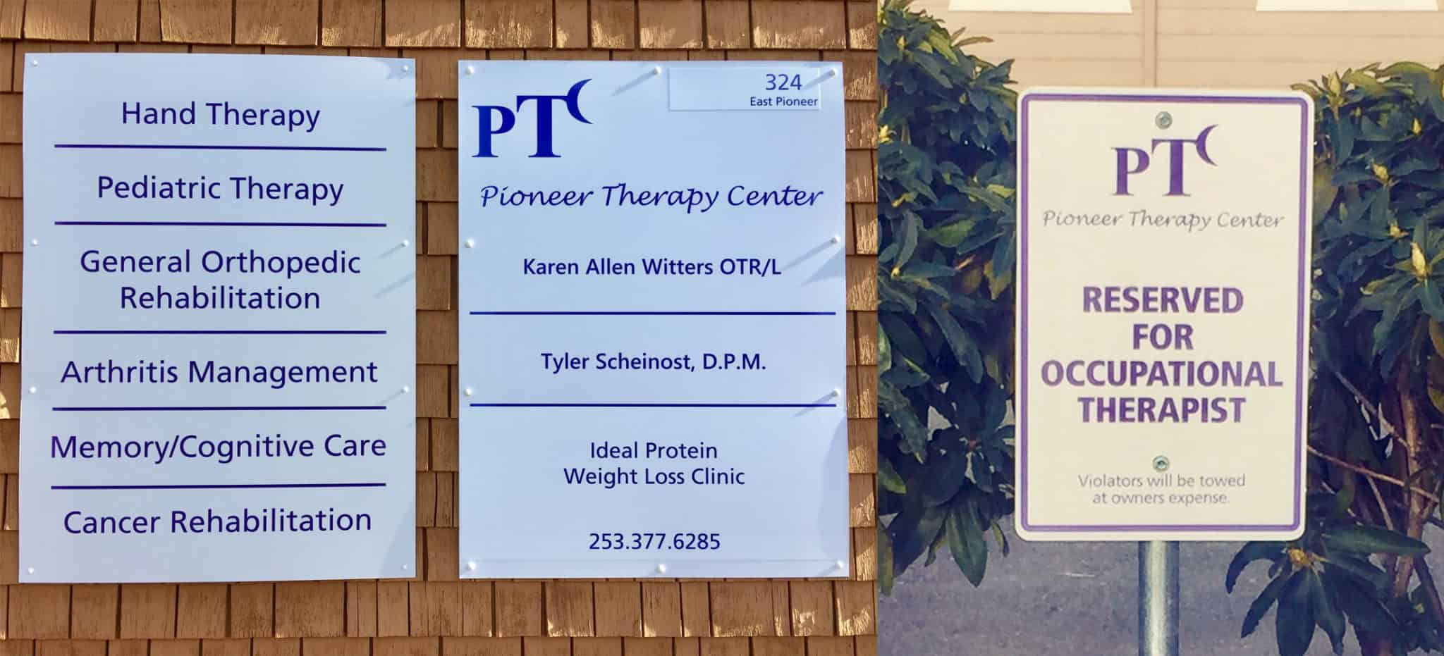 Contact Pioneer Therapy Center, Puyallup, WA